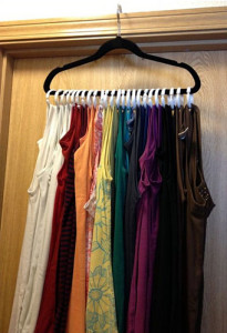 diy project - rack for tank tops